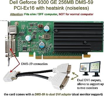 Amazon.com: DELL GeForce 9300 GE, 256 MB tarjeta gráfica con ...