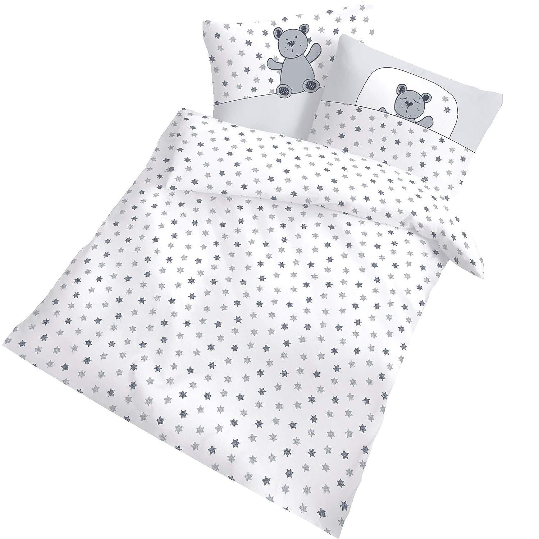 Amilian/® Baby Bettw/äsche Design: P/ünktchen Lila+ ELEFANT 2 tlg. 35x40 cm 80x80 cm