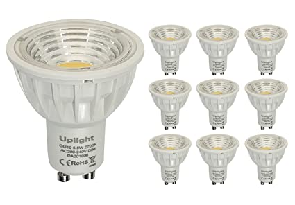 Regulable Blanco Cálido 2700K GU10 LED bombillas Equivalentes 50-60W Halógenas RA90 550LM AC200V-