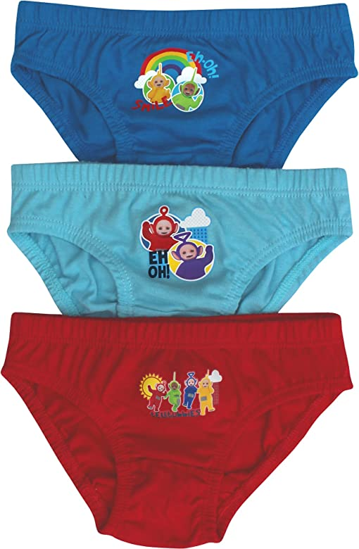 3 Pair Pack Teletubbies Hipster Briefs Pants Set