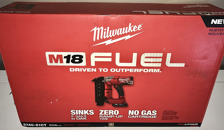 1 x 11.4 x 3.2 Milwaukee Electric Tool 2740-21CT M18 Fuel 18 Gauge Brad Nailer Kit