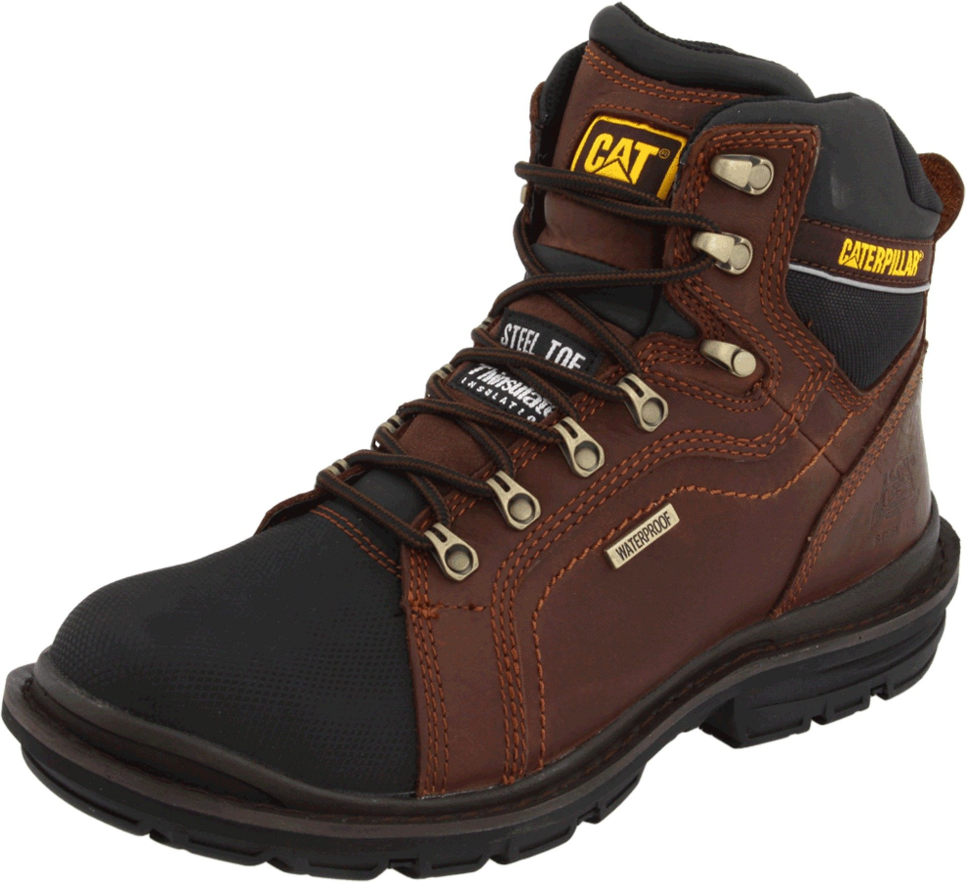 Caterpillar Men's Manifold Tough Waterproof Boot,Oak,7.5 W US