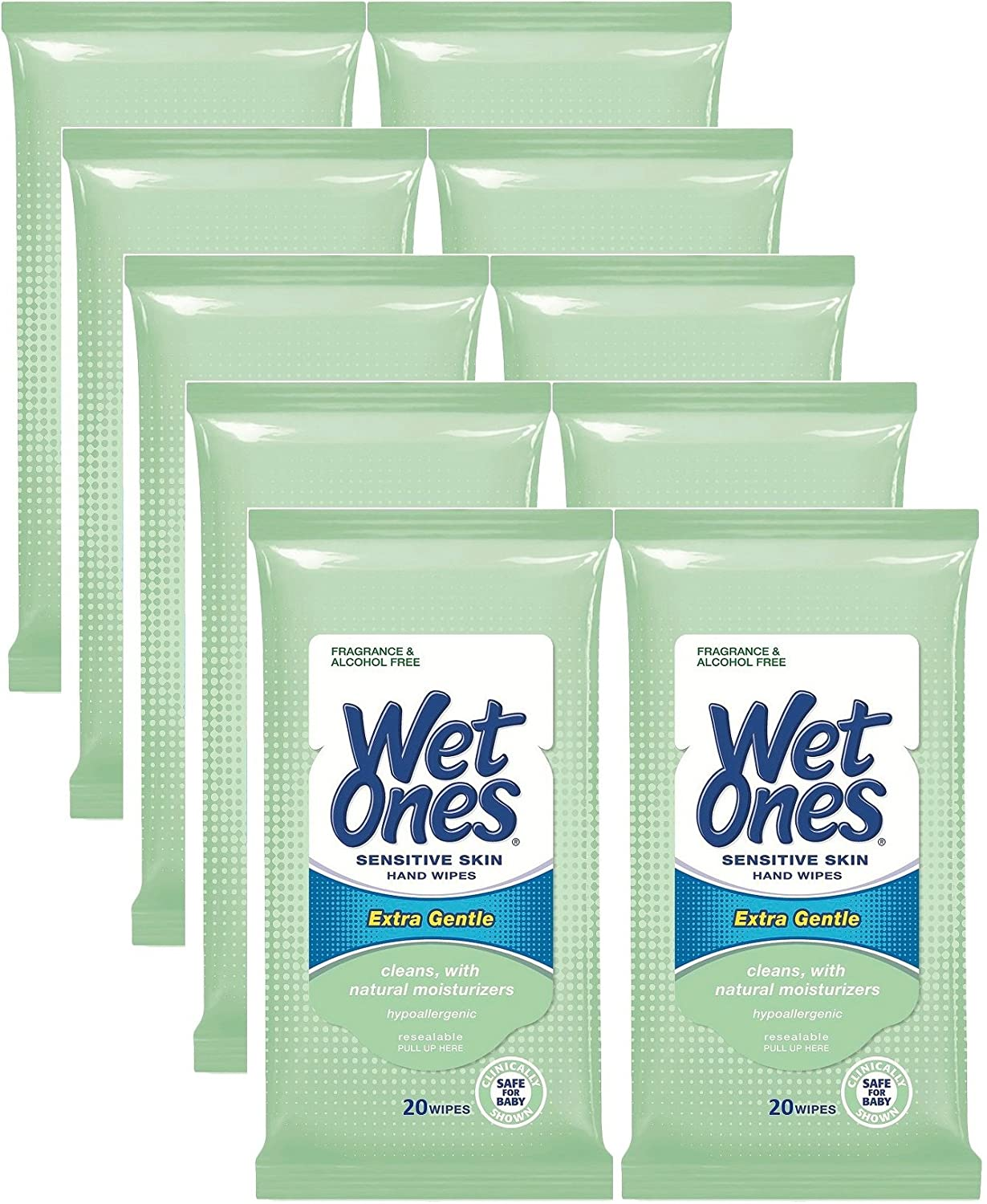WET ONES Towelettes Sensitive Skin Extra Gentle Travel Pack 15 Each (Pack of 2) Powercell Skin Rehab Youth Grafter Night D-Toxer Concentrate 1.01oz