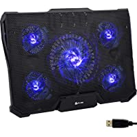 KLIM Cyclone - Laptop Cooling Stand - Maximal Cooling - XL Laptop Stand with 5 Cooling Fans - Compatible Gaming Laptop…