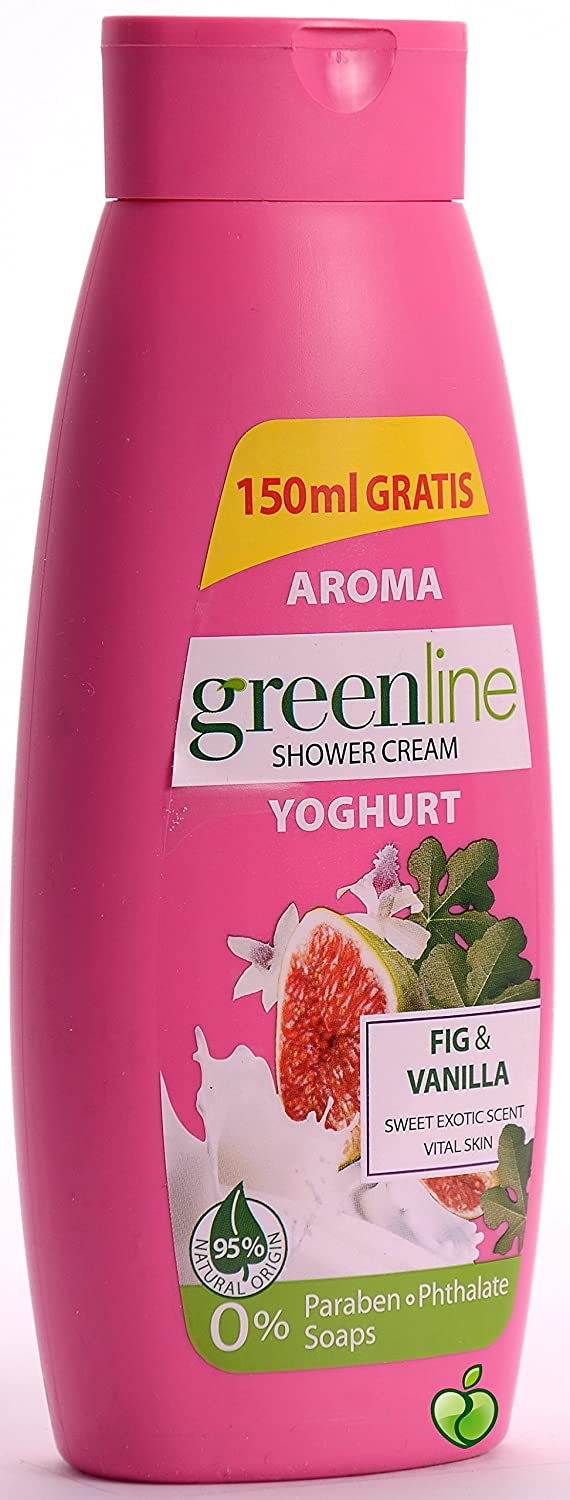 Amazon.com : Aroma Green Line Fig and Vanilla Yoghurt Shower Cream 400ml : Beauty