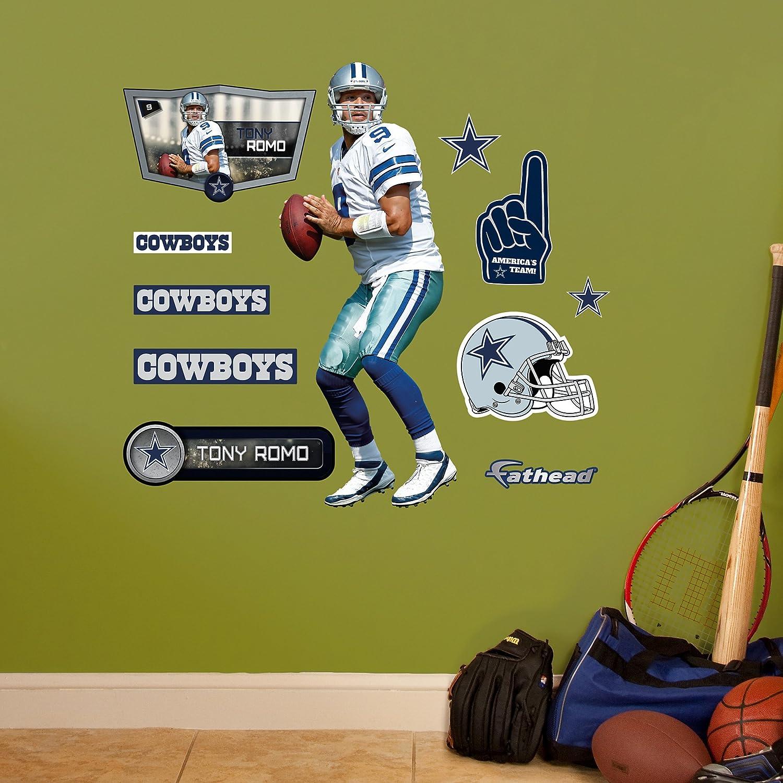 Amazon.com : NFL Dallas Cowboys Tony Romo Fathead Wall Decal, Junior ...
