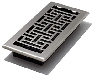 Decor Grates AJH410-NKL Floor Register, 4 x 10, Nickel