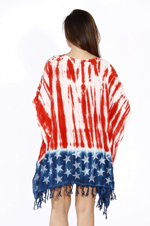 B01FUZRI1I Riviera Sun American Flag Caftan Swimsuit Cover Up Caftans 81YatnPcRqL