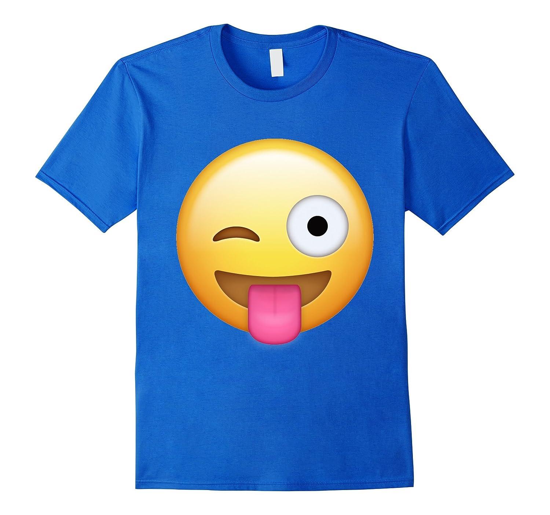 Wink Face Tongue Out Emoji T Shirt-ANZ