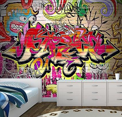 graffiti wall urban art wall mural photo wallpaper kids bedroom play rh amazon co uk graffiti bedroom wallpaper homebase graffiti bedroom wallpaper b&q