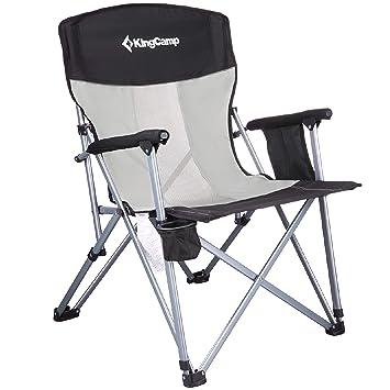 KingCamp Silla de camping de malla de respaldo alto ...