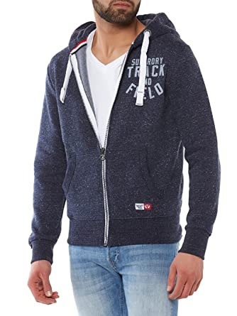 a7723b4e Superdry - Mens Trackster Zip-Up Hoodie at Amazon Men's Clothing store:
