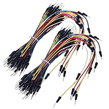 130pcs sin soldadura flexible Breadboard Jumper Cables 4 diferentes longitudes de macho a macho para Raspberry, Arduino Placa de pruebas: Amazon.es: ...