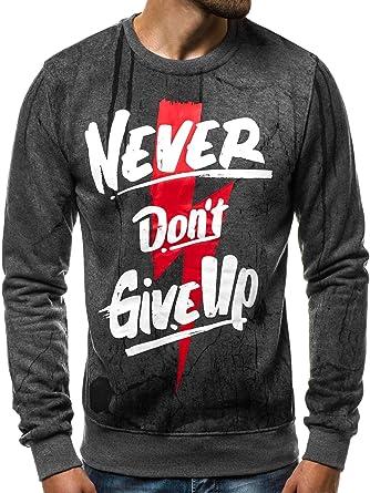 Kleidung & Accessoires OZONEE Herren Kapuzenpullover Sweatshirt Pullover Hoodie mit Motiv DD271 Sport-Kapuzenpullis & -Sweatshirts