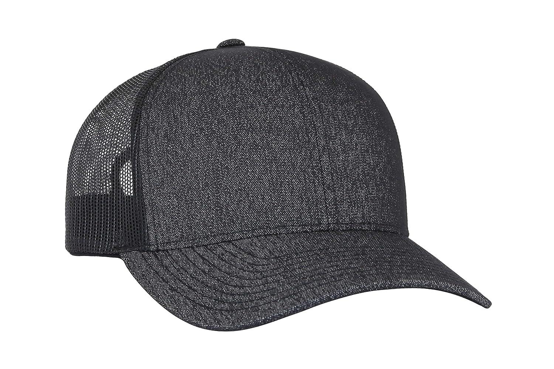 1decbeb8c2b Amazon.com  Trenz Shirt Company Pacific Headwear Blank Trucker Mesh Hat -  Black Heather