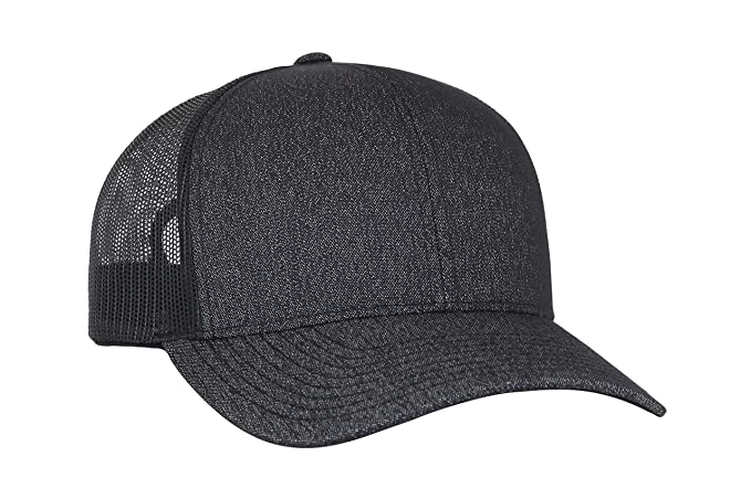 Trenz Shirt Company Pacific Headwear Blank Trucker Mesh Hat - Black  Heather b15144a090f