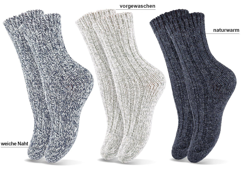 Kindersocken Hausstrümpfe Kinder ABS Socken Norweger Strümpfe Wollsocke 3 Paar