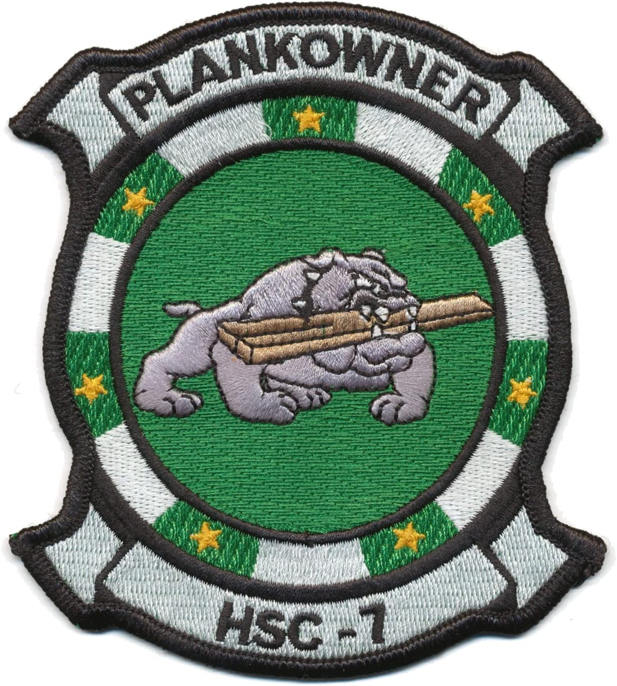 MILITARY PATCH UNITED STATES NAVY PLANKOWNER SEW ON SET OF 2