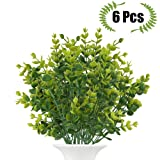 Amazon Price History for:Artificial Boxwood (Pack of 6), The Bloom Times Fake Greenery Foliage Plants with total 42 stems for Wedding, Garden, Farmhouse outdoor decor in bulk wholesale