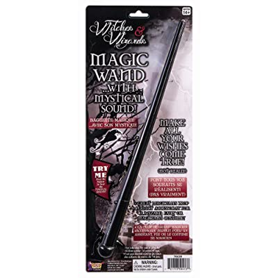 Forum Novelties Witches and Wizards Wand Costume Accessory Handheld Prop with Mystica 76652, One Size, Multi-Color: Toys & Games