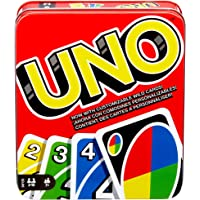 UNO Family Card Game, with 112 Cards in a Sturdy Storage Tin, Travel-Friendly, Makes a Great Gift for 7 Year Olds and Up…