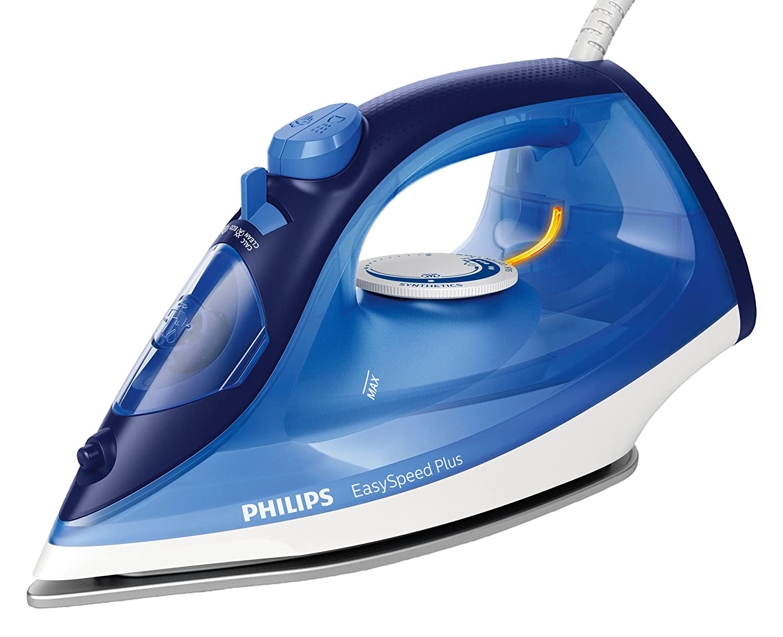 2100 W, 110 g, suola in ceramica, blu Philips EasySpeed Plus GC2145//20 Ferro da stiro a vapore