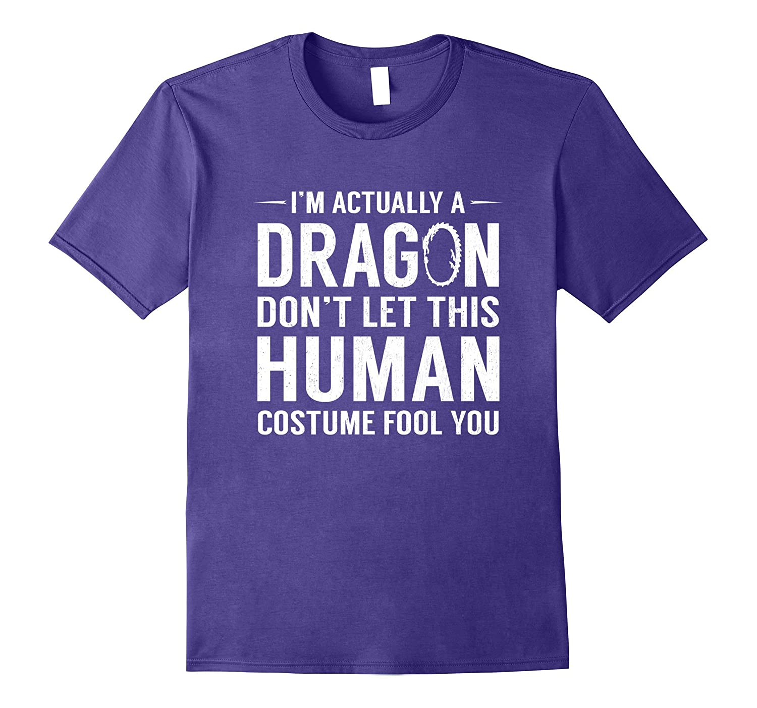 I'm Actually A Dragon Funny Halloween Costume T-Shirt-TH