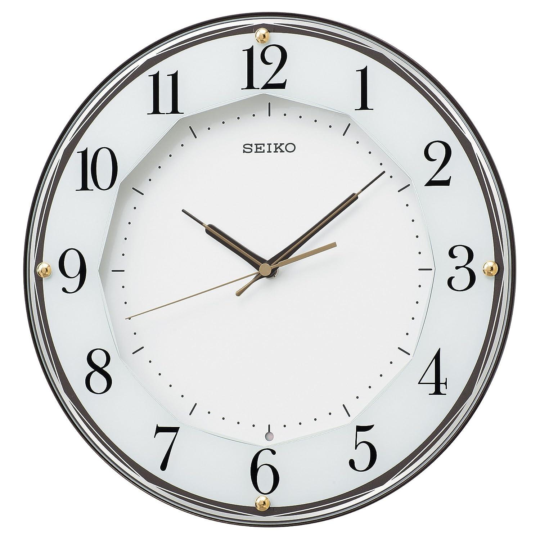 セイコー クロック 掛け時計 電波 アナログ 茶 メタリック KX213B SEIKO B01G56B8DU