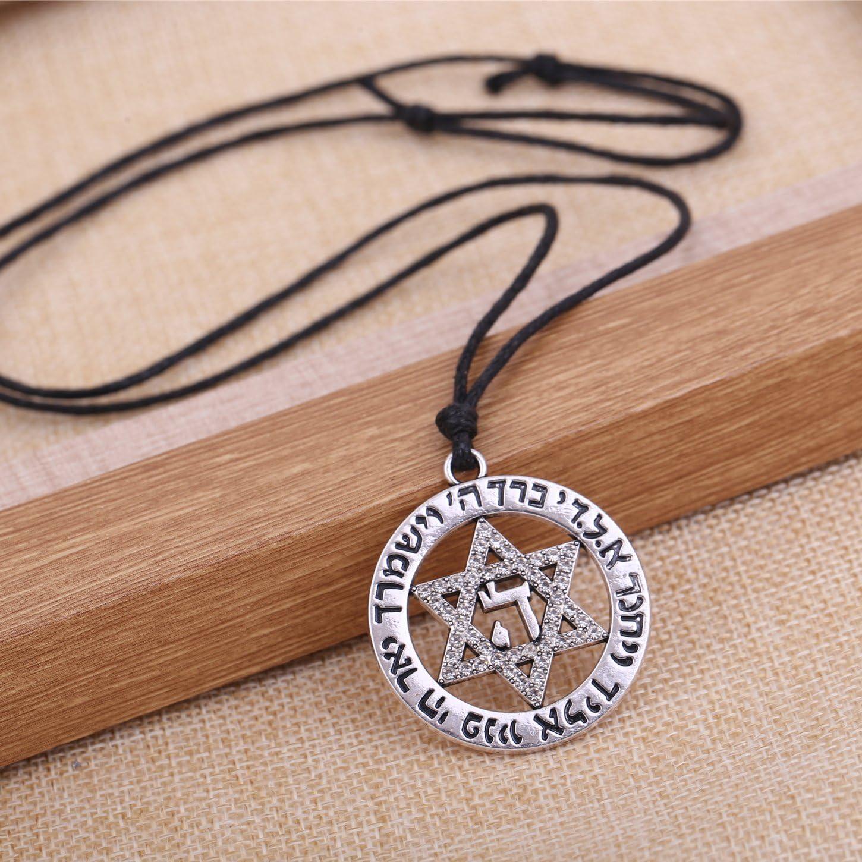 bijoux pour hommes et femmes. Pendentif /étoile de David avec collier