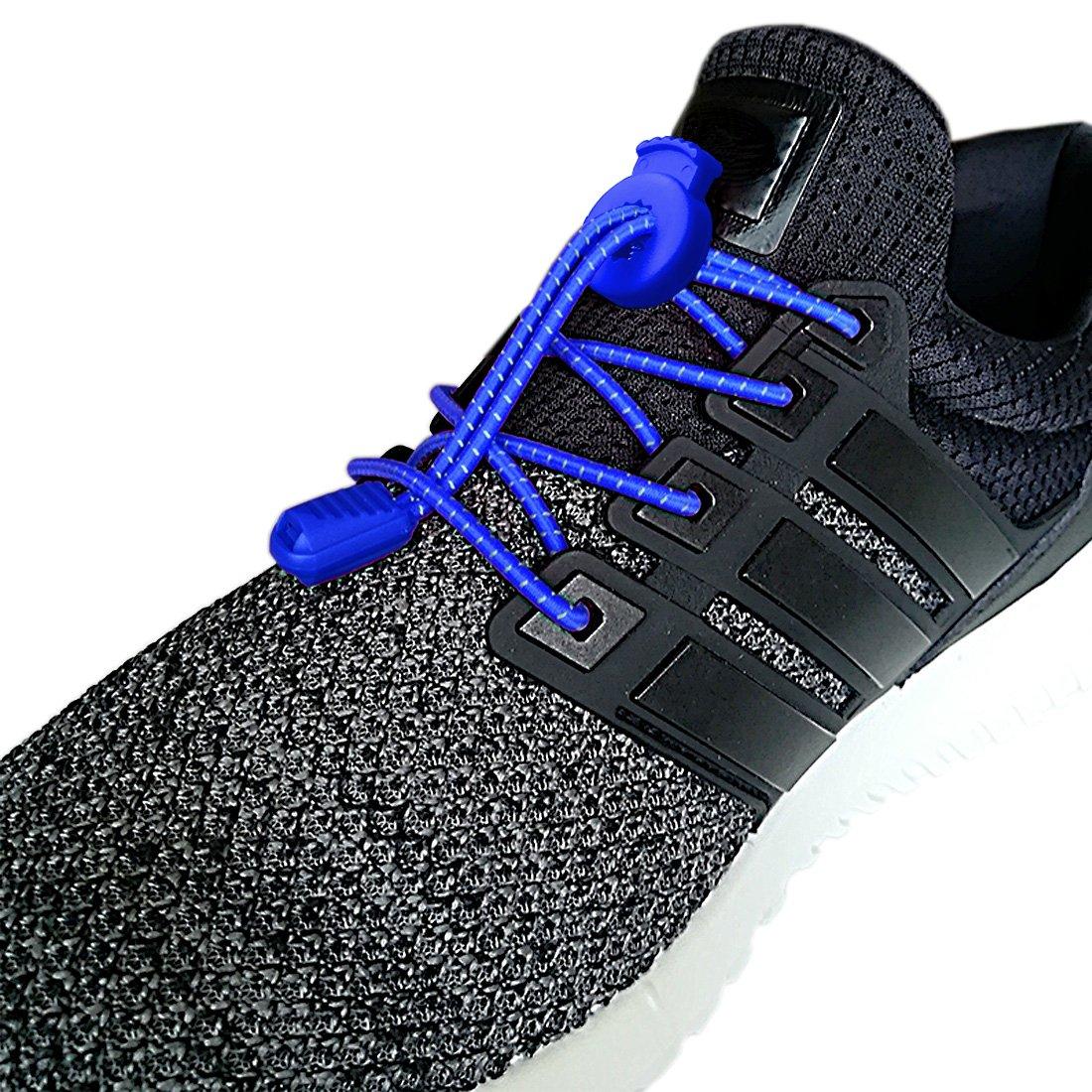 Canwn [2 Pares] Cordones Elásticos para Zapatos, Atar y Sin Nudo Reflexivo Cordones de Zapatos con Longitud de 120cm para Maratón y Triatlón ...