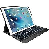 Logitech CREATE Tastatur-Case (mit Hintergrundbeleuchtung für 12.9 Zoll iPad Pro, mit automatischem Ein-/Ausschalten und Smart Connector (QWERTZ, deutsches Tastaturlayout)) schwarz