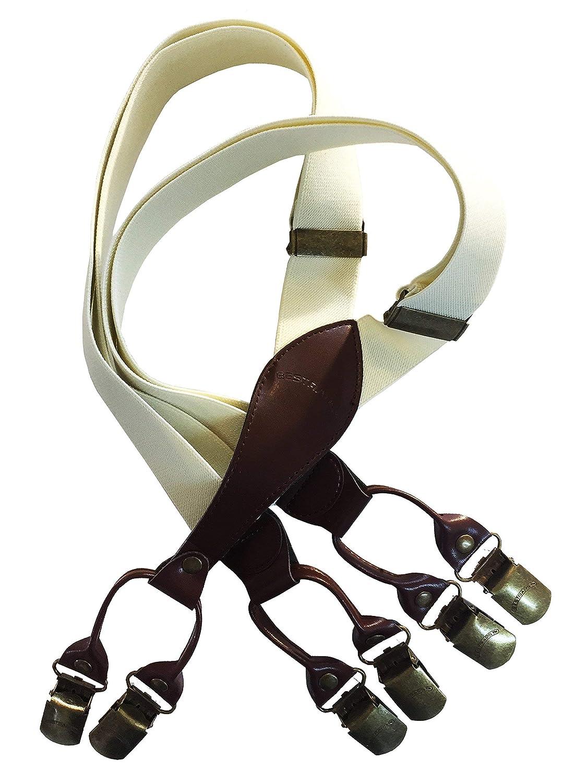 BESTRAPS - Box cinghie Vintage Male - solido - Elegante - Larghezza 3, 5 cm - lunghezza regolabile 85 cm a 175 cm - Fabbricazione francese ed europea Modèle 3 clips
