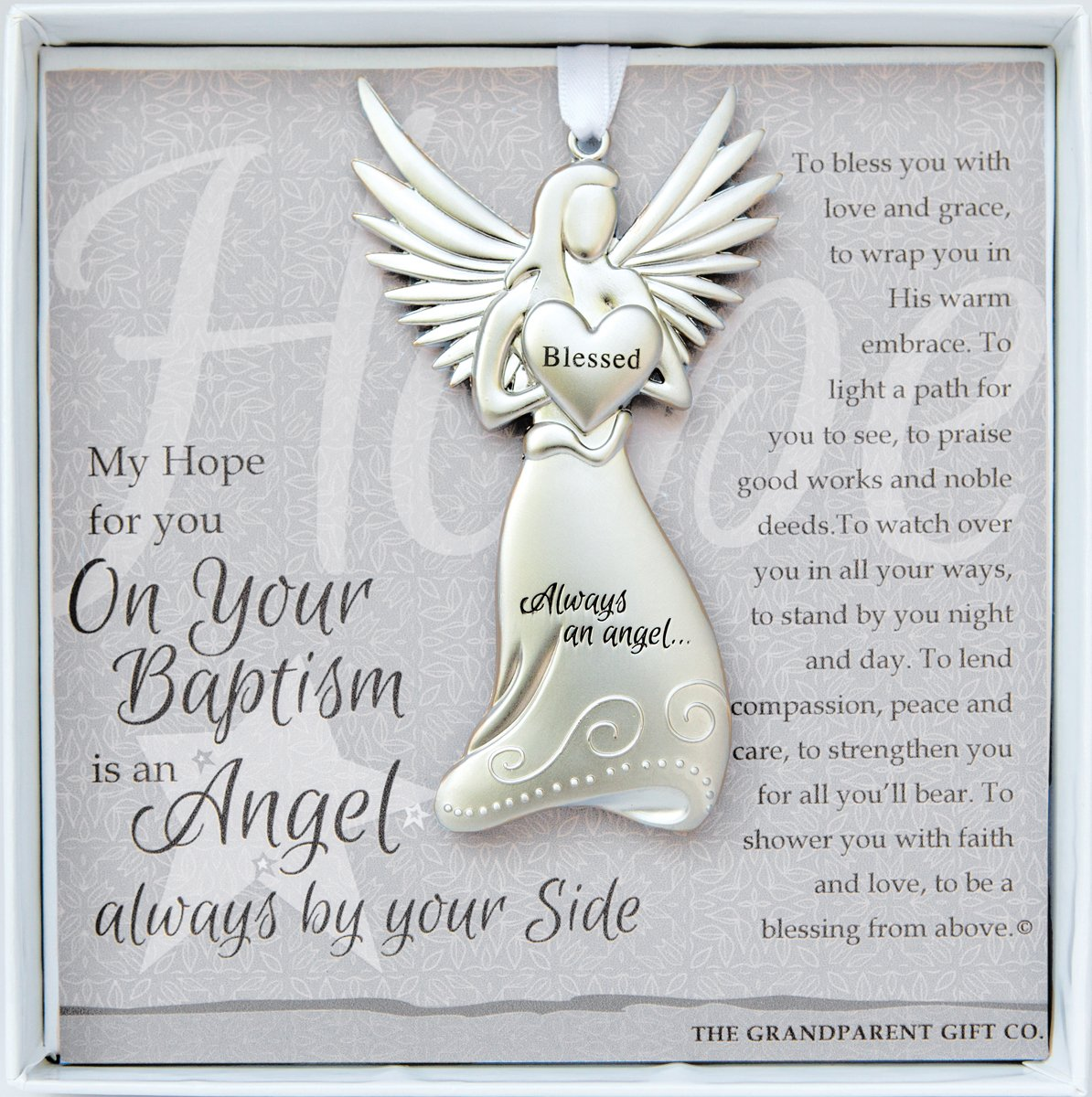 The Grandparent Gift Baptism Keepsake Angel, Gray, Silver, 1 Pack ca baby GRDE3 4522-2