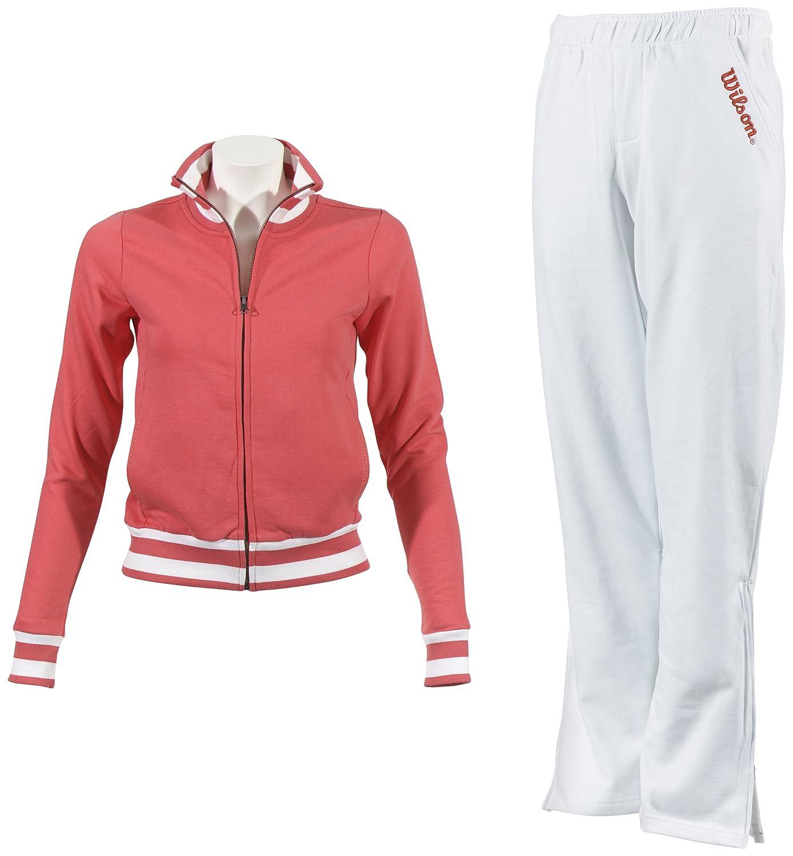 Wilson - Chándal de algodón para Mujer, Mujer, White-Pink, X-Large ...
