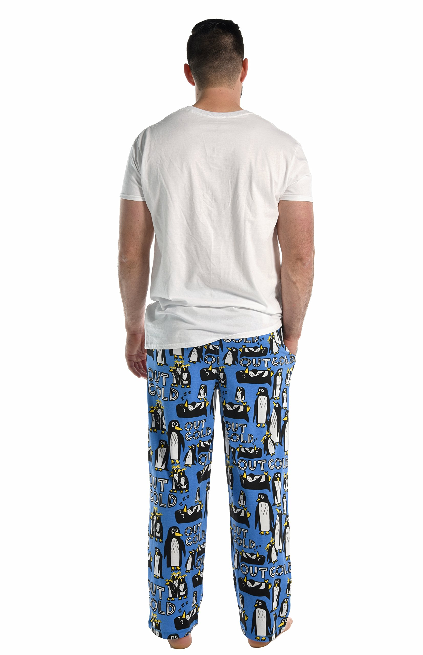 Out Cold Men's Pajama Pants Bottom by LazyOne | Pajama Bottom for Men (Large) by Lazy One (Image #4)