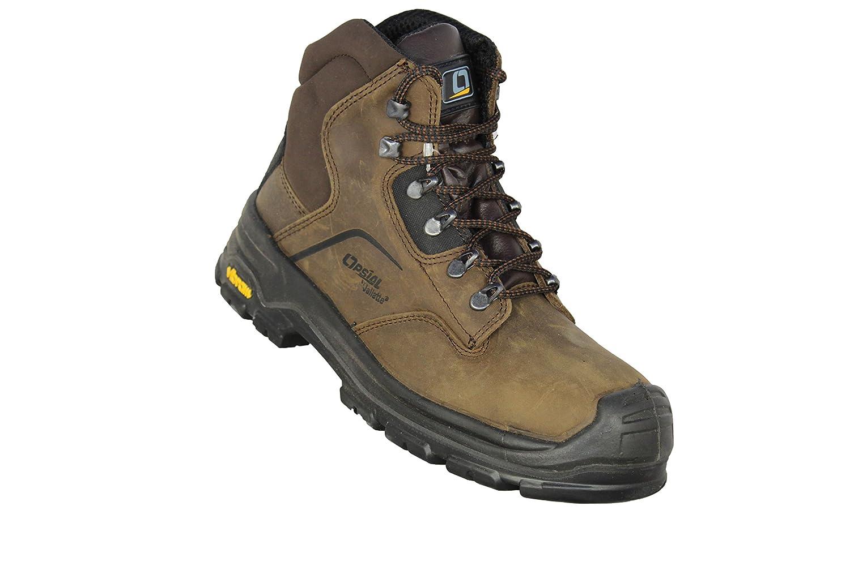 Opsial - Chaussures De Protection Homme Gris En Cuir, Gris, Taille 37 Eu