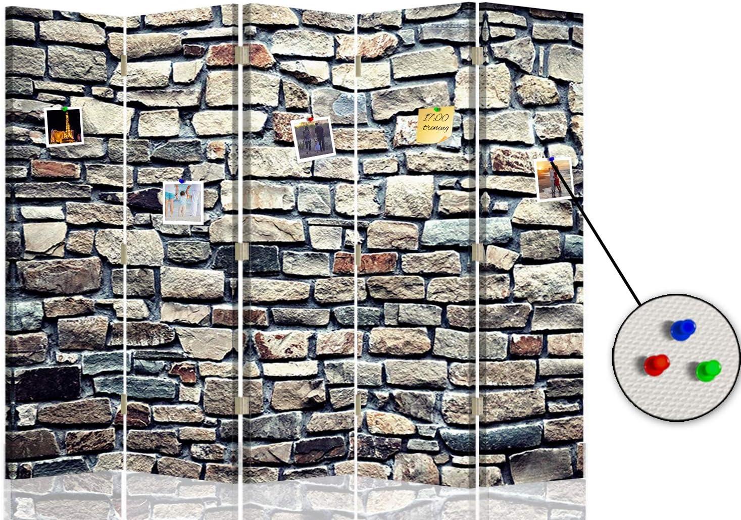 Feeby Separador Foto Corcho Muro Piedras 5 Paneles Unilateral ...