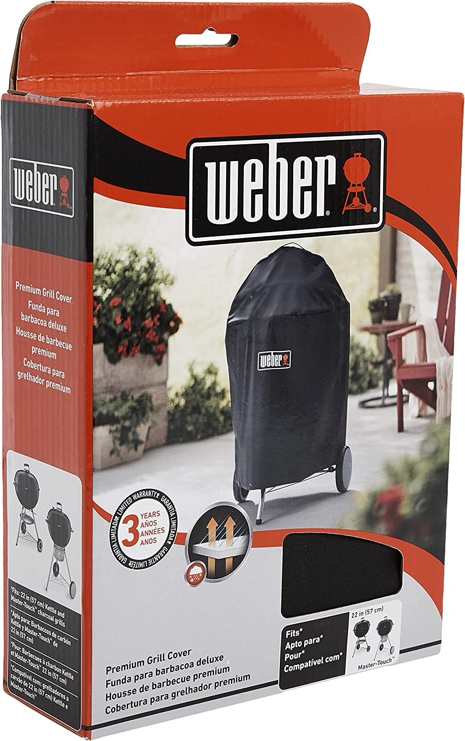 Weber Premium 22 Inch Charcoal Grill Cover Garden Outdoor Amazon Com