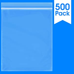 "Spartan Industrial || 500 Count - 10 X 12"" - 2 Mil Clear Plastic Reclosable Zip Poly Bags with Resealable Lock Seal Zipper (More Sizes Available)"