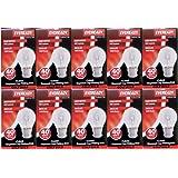 10 x EVEREADY Classic Golf Ball 40W, BC B22 B22d, Clear Round Light Bulbs, Bayonet Cap, Mini Globes Incandescent Dimmable P45/G45 Lamps, Mains 240V