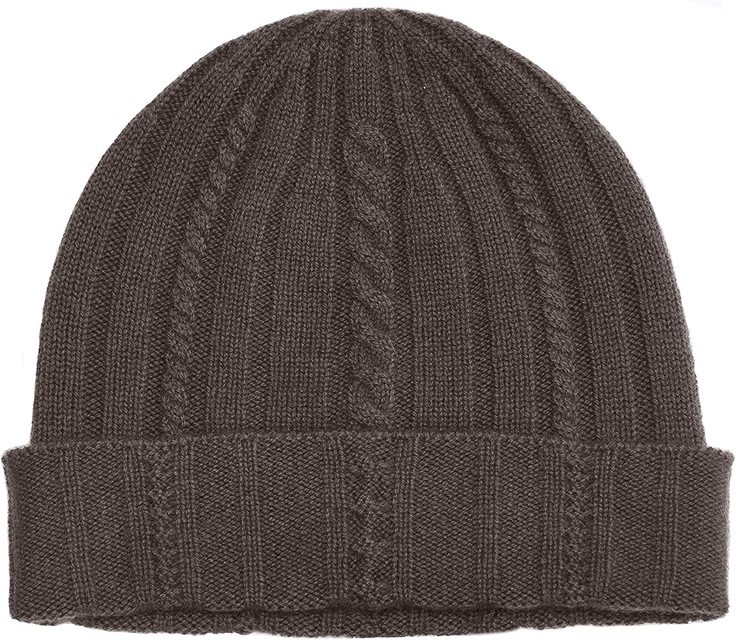 Black ,One Men/'s 100/% Skullies /& Beanies Cashmere Ribbed Hat Cuffed Super Soft