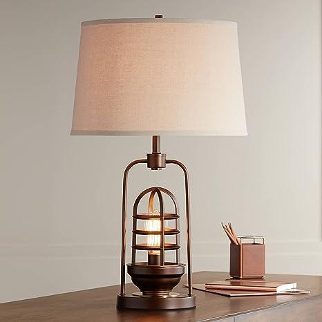 Amazon.com: Hobie Nightlight Jaula de Bronce Lámpara de mesa ...