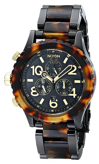 Nixon 1679 A037 - Reloj cronógrafo de mujer de cuarzo con correa de acero inoxidable multicolor: Nixon: Amazon.es: Relojes