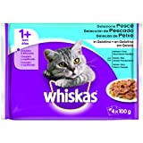 WHISKAS alimento para gatos sabores del mar sobres 4x100 gr