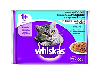 WHISKAS alimento para gatos sabores del mar sobres 4x100 gr: Amazon.es: Amazon Pantry