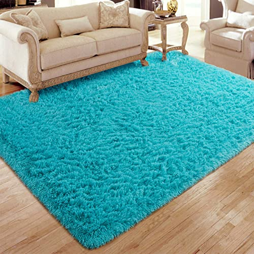 Flagover Soft Fluffy Modern Living Room Area Rugs Shaggy Plush Non-Slip Bedroom Carpets Suitable