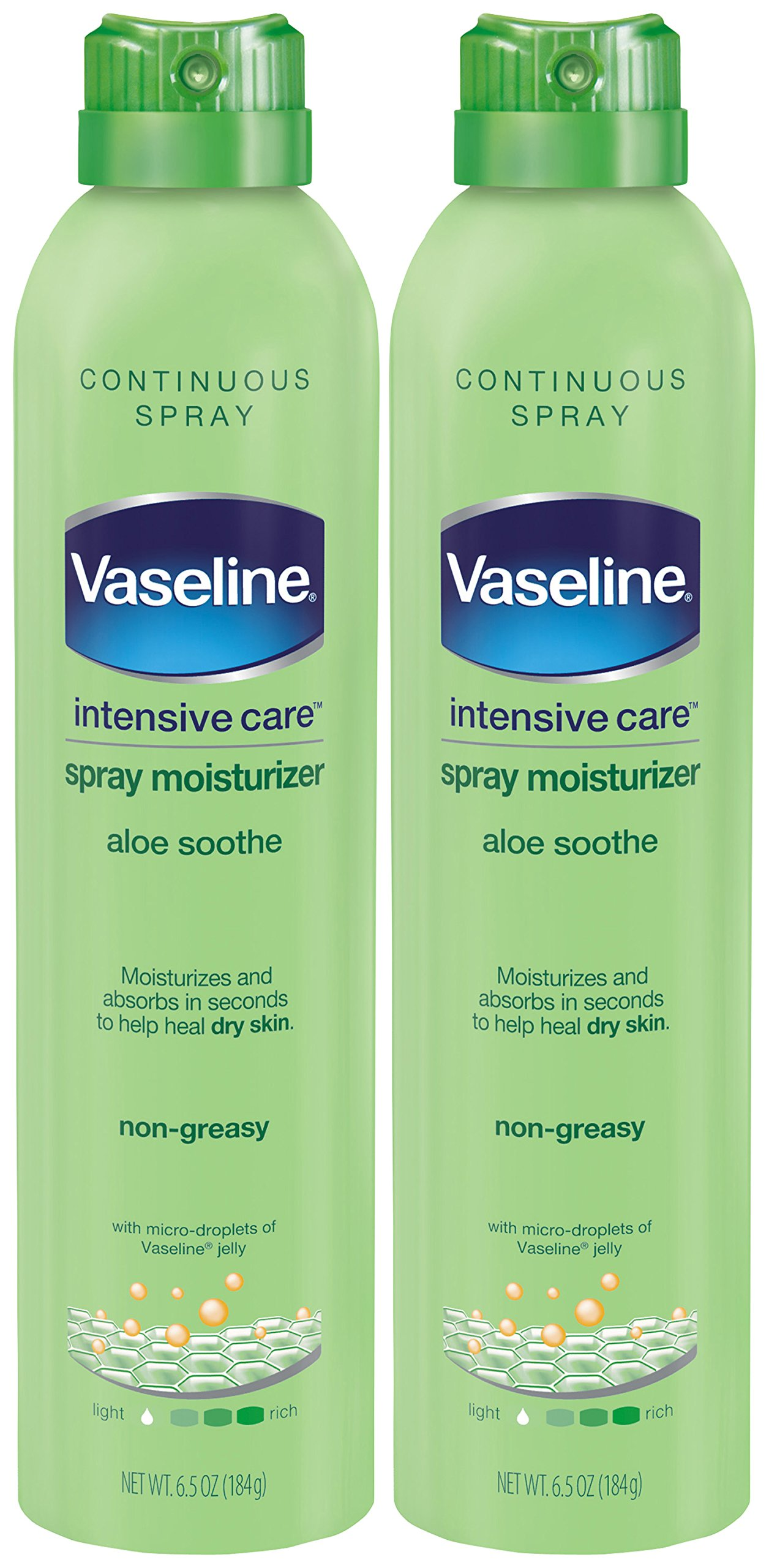 Vaseline Intensive Care Spray Moisturizer, Aloe Soothe 6.5 oz, Twin Pack by VASELINE HBL