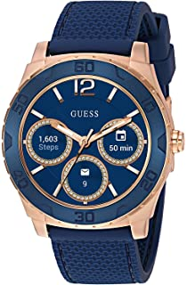 Amazon.com: GUESS Mens Stainless Steel Connect Smart Watch ...