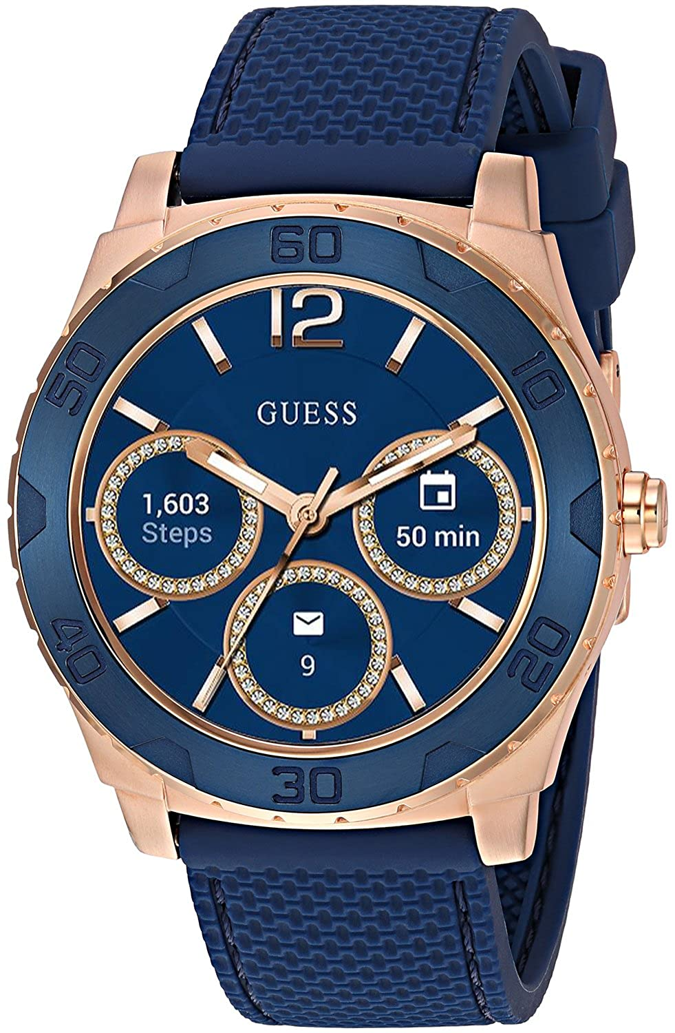 Amazon.com: GUESS Mens Stainless Steel Android Wear Touch ...