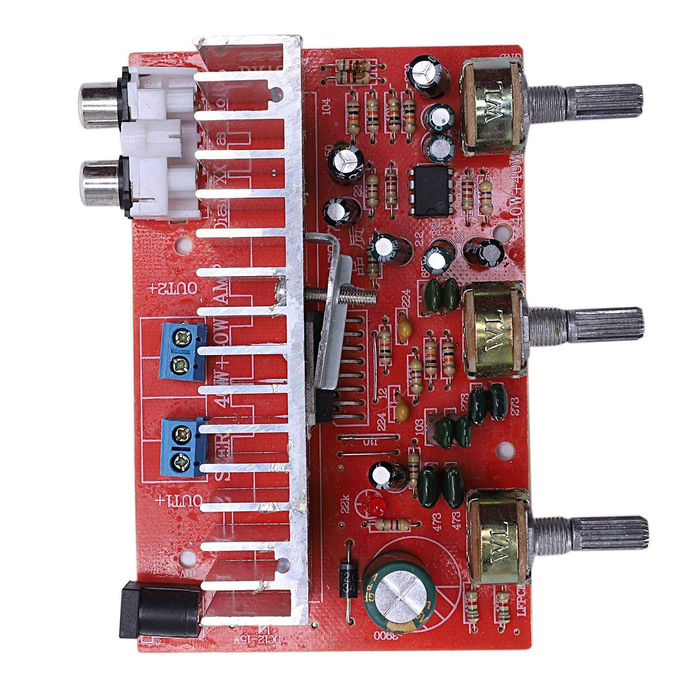 TOOGOO Tda7377 Tablero del Amplificador De Audio Digital 40Wx2 Amplificador Est/éreo De Doble Canal para Altavoz DIY De Coche Dc12V E5-005